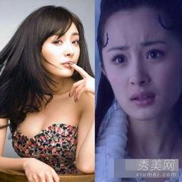 陈妍希饼脸周冬雨村姑 被PS拯救路人变女神的天生残