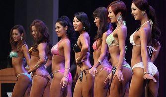 韩国健美赛云集众美女 性感翘臀诱惑无限
