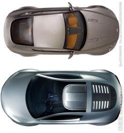 汽车俯视图图片