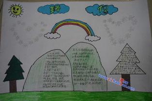 小学生二年级环保手抄报图片