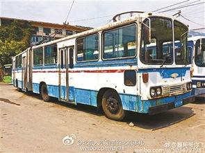 20多年前北京老电车现身山东肥城 作矿区通勤车