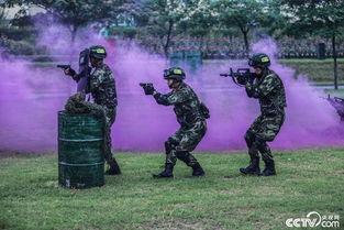 )   只闻震天的炮火声中,官兵们迅猛出击,战术动作如猛虎下山....