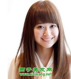 2013女孩长直发发型图片