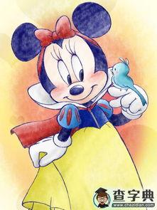 米妮和小鸟卡通人物儿童画图片欣赏