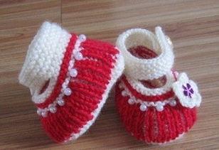 宝宝毛线鞋编织方法