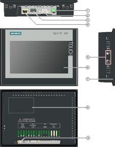 西门子触摸屏10寸smart1000