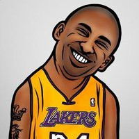 NBA球星Q版形象 科比头像q版
