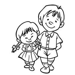 ...关于哥哥和妹妹的简笔画画法,幼儿人物简笔画教程,教你学画兄妹...