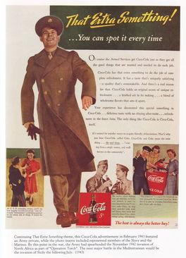 惊叹 战争中的可口可乐广告