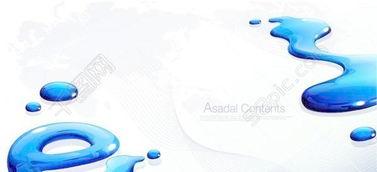 蓝色水滴背景矢量素材模板免费下载 ai格式 编号15917501 千图网