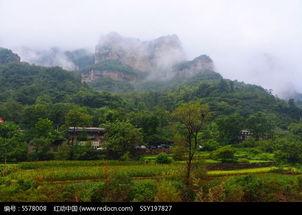 雨中太行村落高清图片下载 红动网