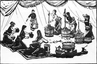 《酥油歌》黑白木刻 36*54cm 1991年-艺坛大家 藏族生活版画