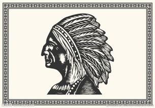 手绘印第安人图片