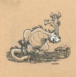 西方恶龙平时都在做什么 30张可爱插图改变龙在你心中的形象