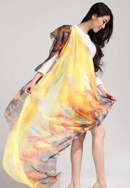 夏季2014新款披肩薄款女雪纺围巾上海故事丝巾超大真丝百搭两用