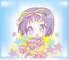 可爱卡通小女孩图片