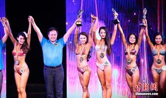 金刚芭比抢镜国际沙滩健美大赛 秀恐怖肌肉