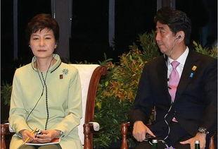 ...尼&8218;韩国总统朴槿惠与日本首相安倍晋三出席APEC峰会&...