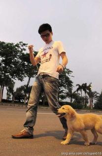 阿东说拿这照片告我虐待动物,哈哈~~-我和我的狗 Sandy帅哥