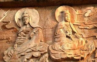等摩崖石刻造像法相慈悲,   韦陀雕塑   威严.每年农历二月、六月、...