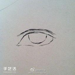 ...勃勃的男性眼睛素描的基本画法步骤