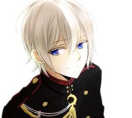...个蓝色眼睛白色头发的动漫男生是谁
