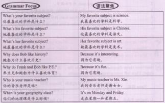 人教版七年级上册英语Unit9 SectionA 2部分课文翻译