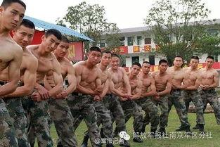 ...某团官兵热捧.军人的体型是平时的训练成果的直观反映,同时也决...