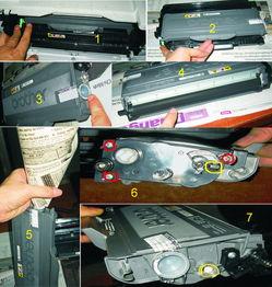 兄弟mfc7340一体机具体怎么加粉,最好有图说明,谢谢