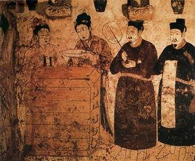 古陵手记-图:辽墓壁画   《辽代庆陵被掘记略》则是这样说的: