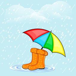 卡通雨伞 与 雨鞋 模板下载 图片 编号 20140629