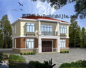 ...0平方米新农村二层别墅设计图及效果图,12.36x9.36米