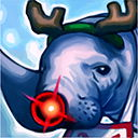 ...L签到看直播 冰雪节限定 海牛驯鹿头像 领取地址像