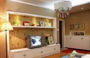 简约风格客厅电视背景墙装修图片-简约风格时尚壁纸图片-简约时尚电...