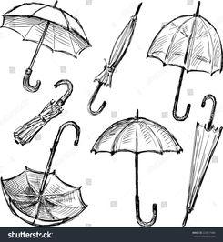 ...意网页模板草图雨伞简笔画-创意网页模板草图