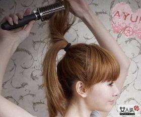 短发丸子头扎法图解 简单七步打造青春丸子头 2