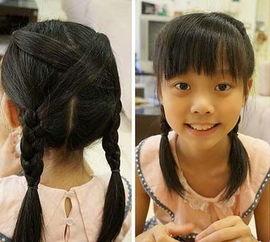所有适合小孩子的中长发型编法 小女孩编辫子发型扎法图解