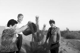 ...毛乌素沙漠采访治沙英雄、全国劳动模范殷玉珍和牛玉琴.-三北 造...