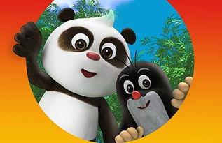 中捷合拍动画片 熊猫和小鼹鼠 开播 双语