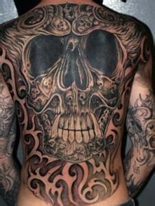 qq骷髅人纹身头像 骷髅人头像