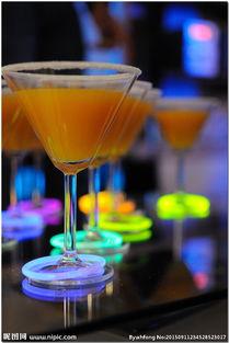 太极洞酒-酒吧荧光鸡尾酒图片