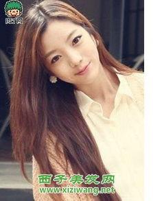 长发直发发型 圆脸中长发直发发型 盘发扎发 长发 直发 发型扎法