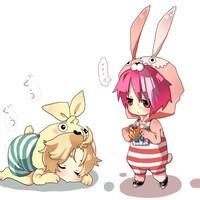 动漫少女兔子qq头像