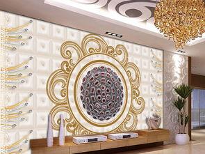 豪华欧式软包珠宝背景墙