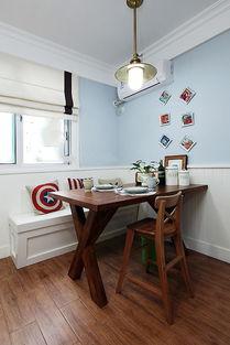 这样的餐厅设计十分节省空间.-美式雅致家居二居室设计 实用主义空...
