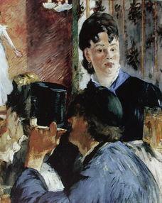 《酒馆女招待》-法国印象派绘画大师爱德华 马奈作品