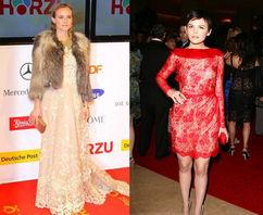 ...彩的蕾丝很适合亚洲人-蕾丝主题和下空装 明星奋勇上身
