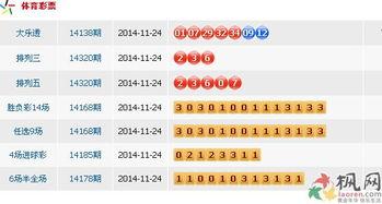 2014年11月24日中国体育彩票开奖公告 图文