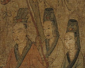 武冠,据说是赵武灵王胡服骑射所留,以漆纱制为横向的长方形,两端...