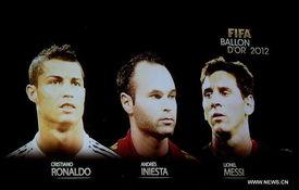 Fútbol Messi, Ronaldo e Iniesta figuran en lista para Balón de Oro 2012...